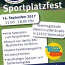Sportplatz Fest des RSV am 16.09.